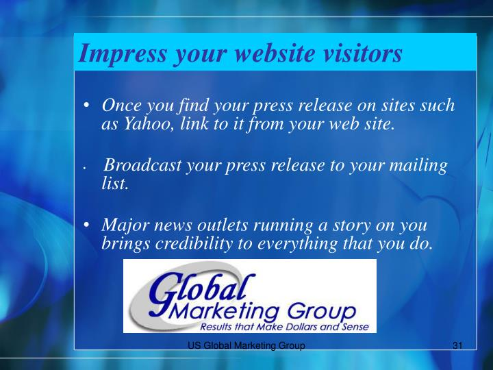 Impress your website visitors