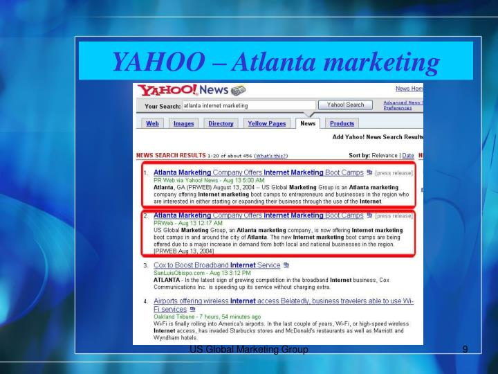YAHOO – Atlanta marketing