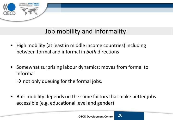 Job mobility and informality