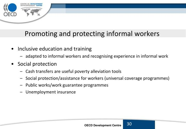 Promoting and protecting informal workers
