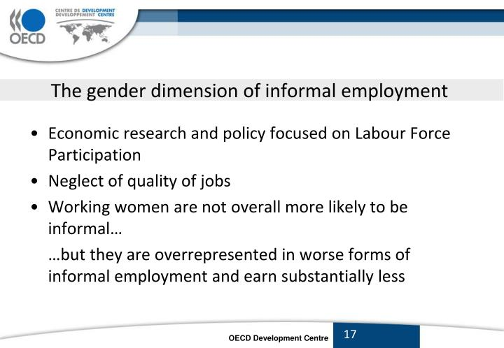 The gender dimension of informal employment