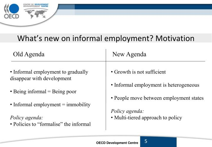 What's new on informal employment? Motivation