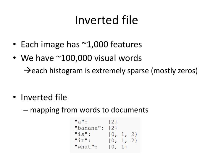 Inverted file
