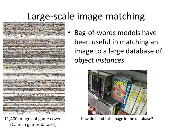 Large-scale image matching