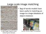 large scale image matching