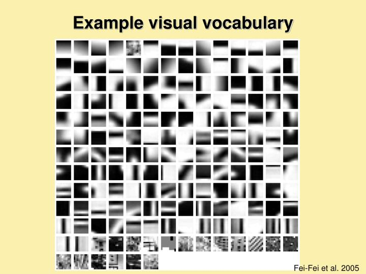 Example visual vocabulary