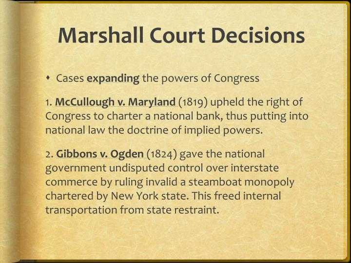 Marshall Court Decisions