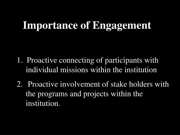 Importance of Engagement