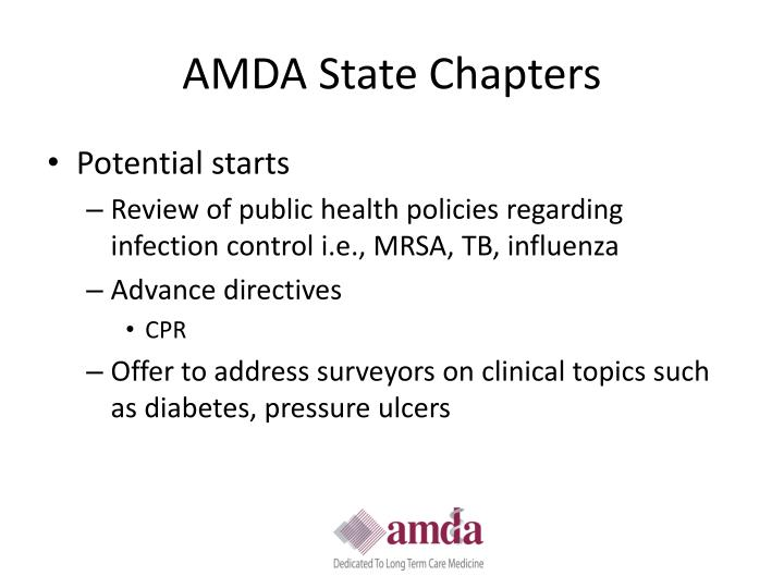 AMDA State Chapters