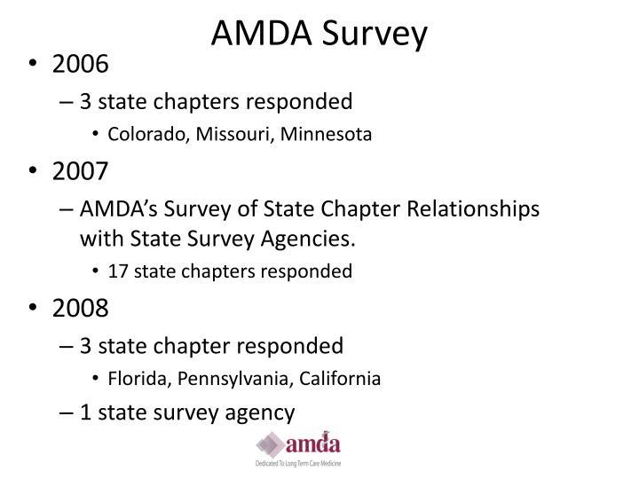 AMDA Survey