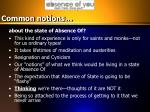 common notions