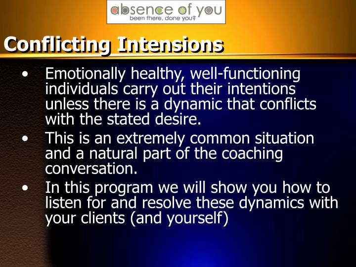 Conflicting Intensions