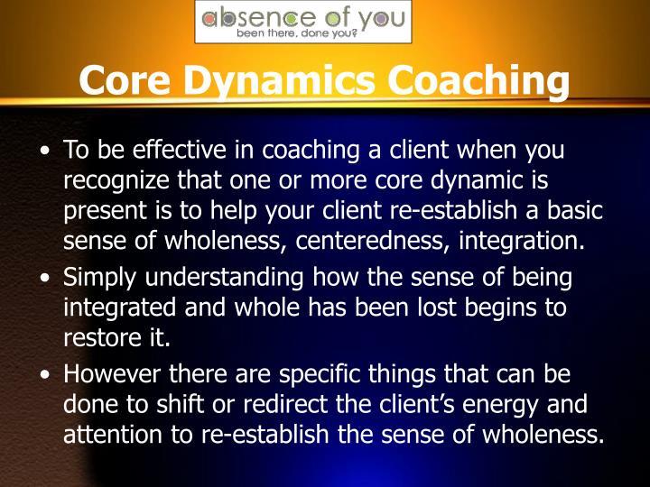 Core Dynamics Coaching
