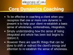 core dynamics coaching