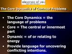 the core dynamics of common problems
