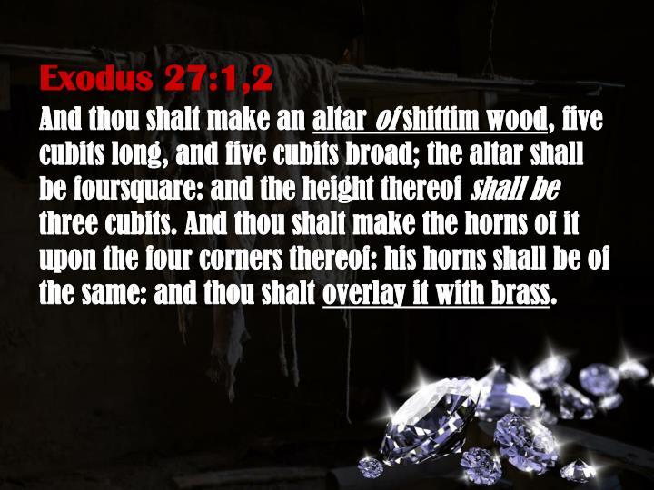 Exodus 27:1,2
