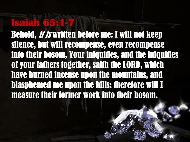Isaiah 65:1-7