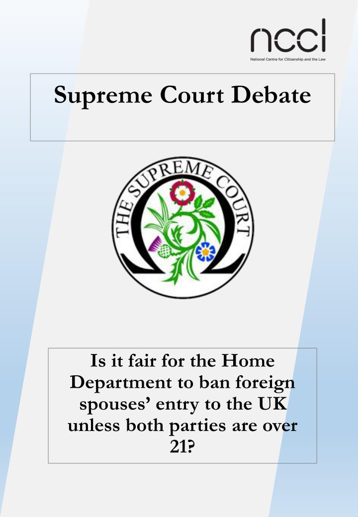 Supreme Court Debate