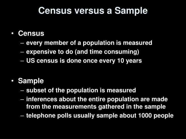 Census versus a Sample