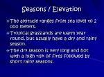 seasons elevation