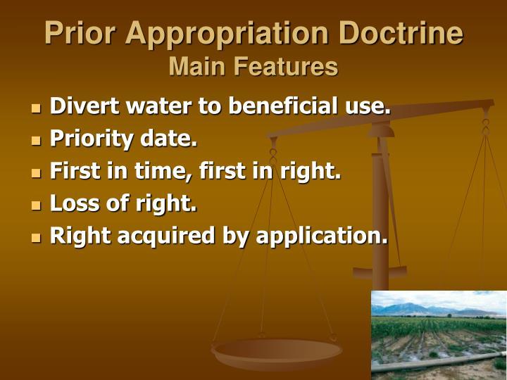 Prior Appropriation Doctrine