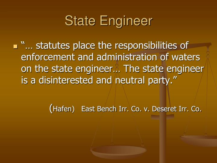 State Engineer