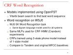 crf word recognition4