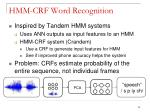 hmm crf word recognition1