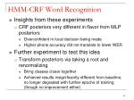hmm crf word recognition13