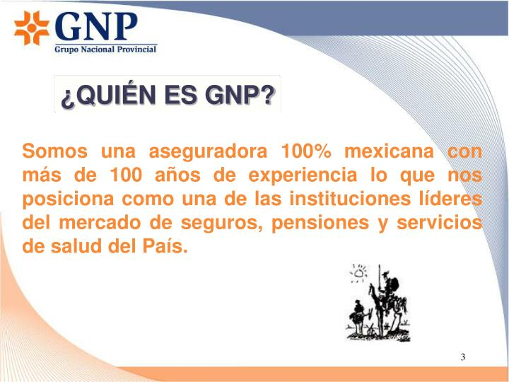 ¿QUIÉN ES GNP?