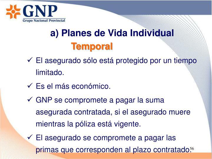 a) Planes de Vida Individual
