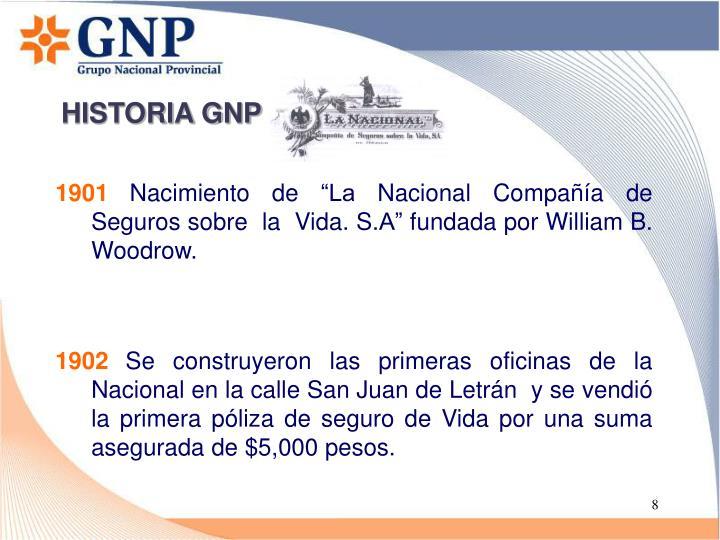 HISTORIA GNP