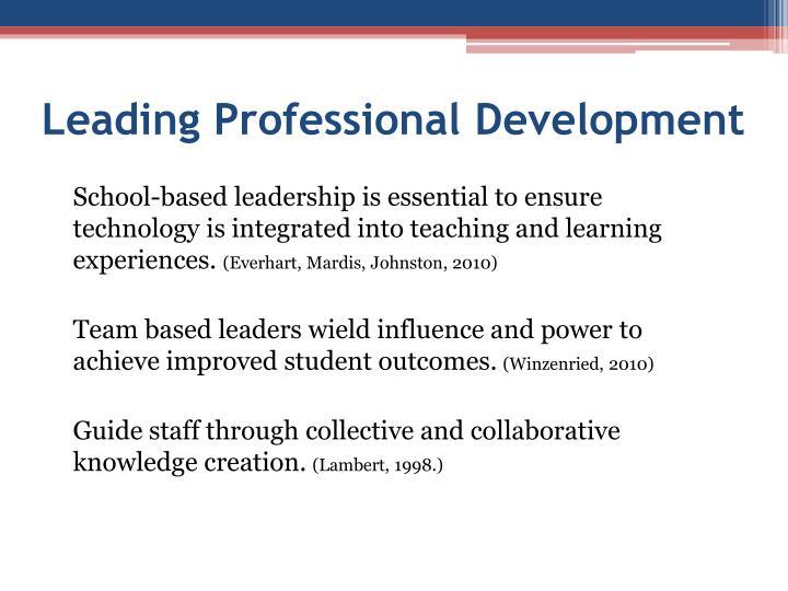 Leading Professional Development