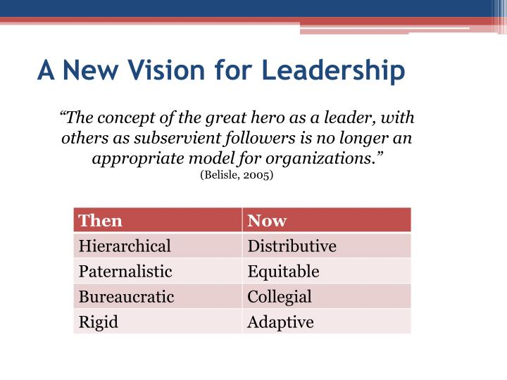 A New Vision for Leadership