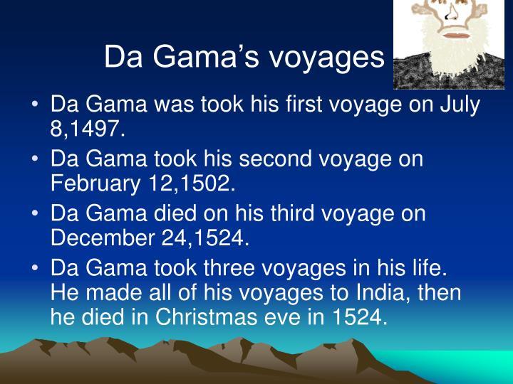 Da Gama's voyages