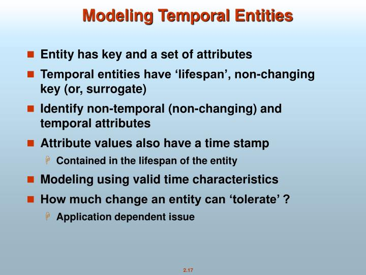 Modeling Temporal Entities