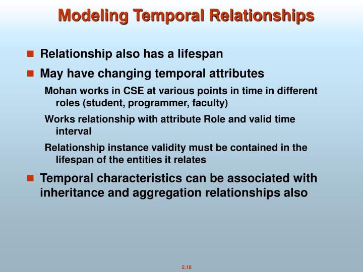 Modeling Temporal Relationships
