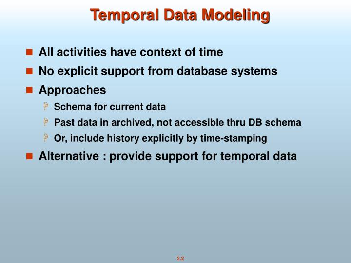 Temporal Data Modeling
