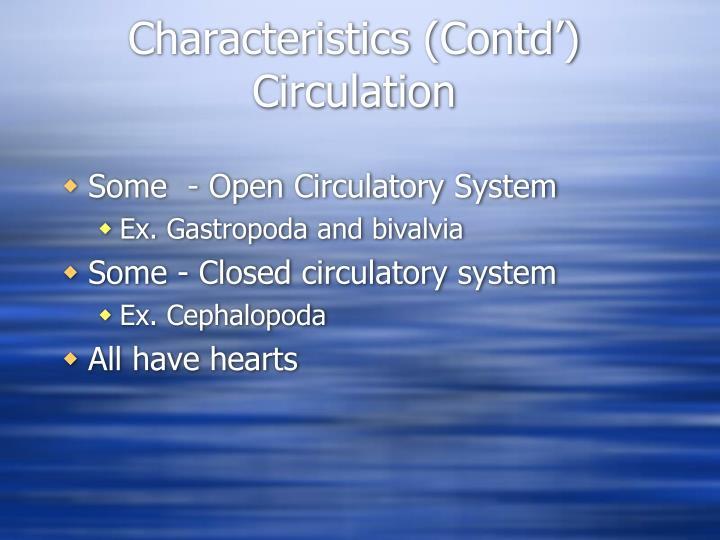 Characteristics (Contd