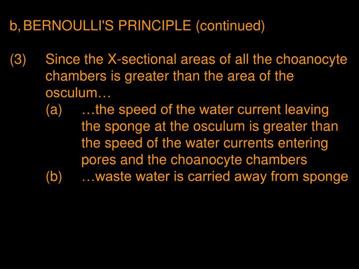 b,BERNOULLI'S PRINCIPLE (continued)