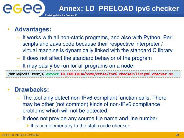 Annex: LD_PRELOAD ipv6 checker