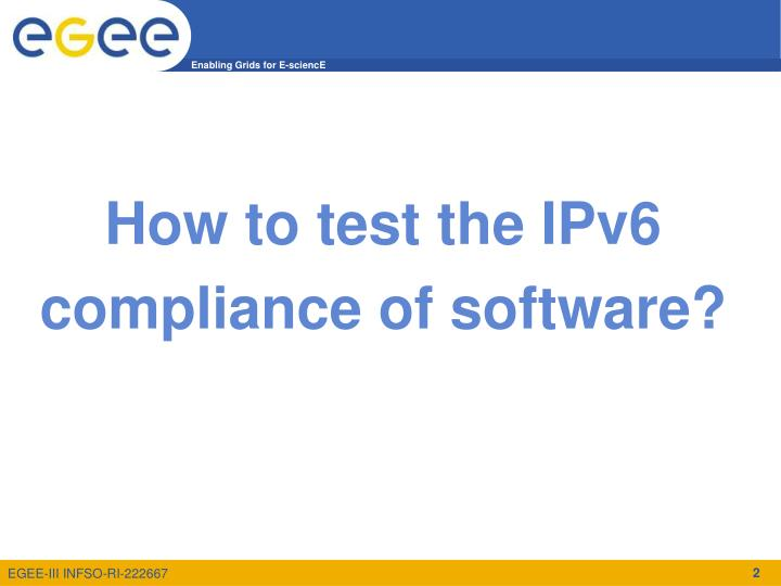 How to test the IPv6