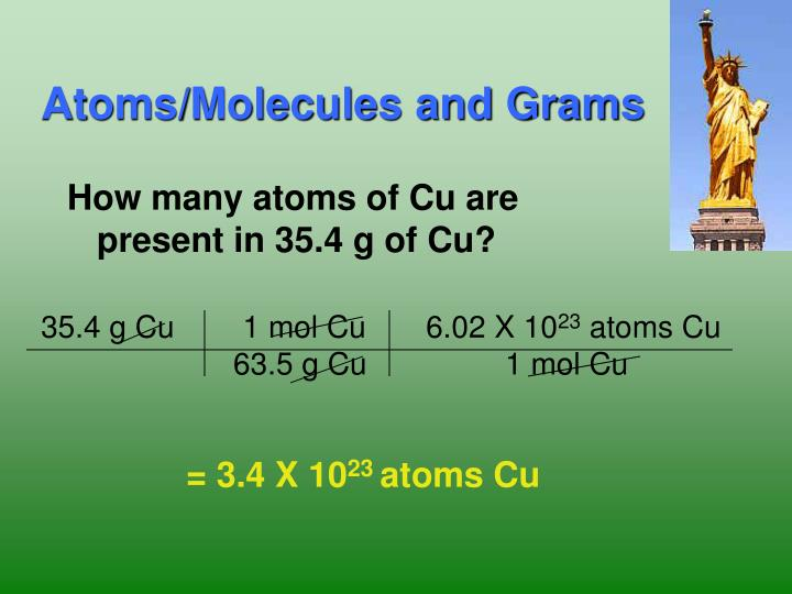 Atoms/Molecules and Grams
