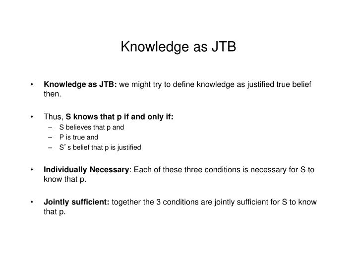 Knowledge as JTB