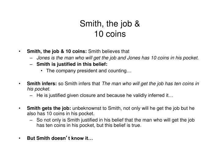 Smith, the job &