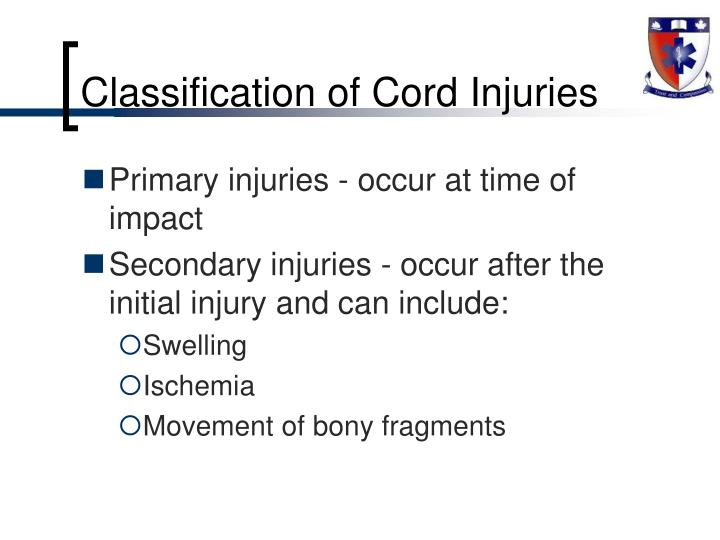 Classification of Cord Injuries