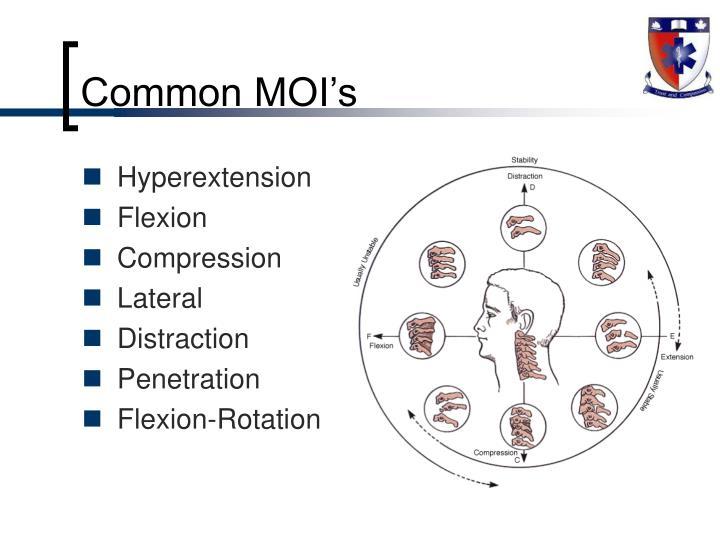Common MOI's