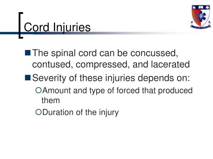 Cord Injuries