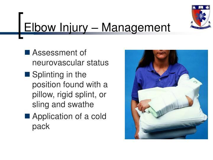 Elbow Injury – Management