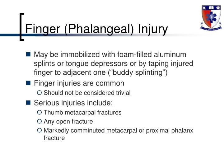 Finger (Phalangeal) Injury